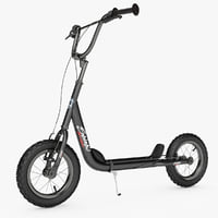 kick scooter bike novatrack 3d max