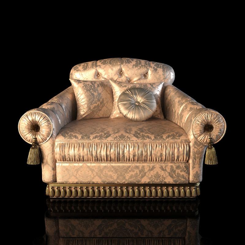 free unico verdi armchair 3d model
