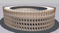 3d model of colosseum coliseum flavian