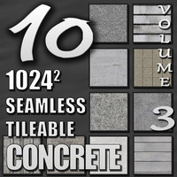 10 Seamless Tileable Concrete Wall Floor Texture Pack