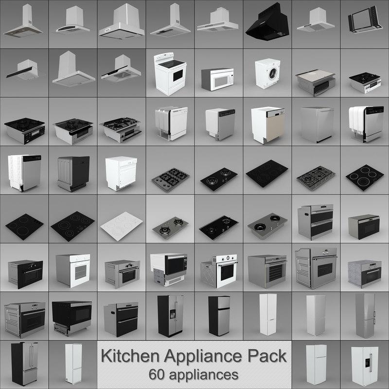 3d model kitchen appliances
