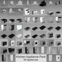 3d model kitchen appliances