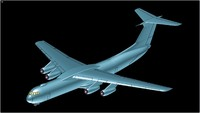 Lockheed C-141B Transport Aircraft Solid Assembly Model