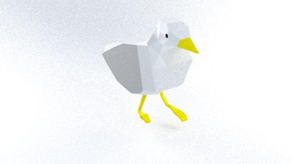3d model of seagull