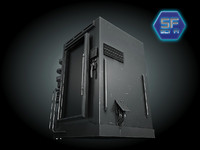 3d sci fi freezer model