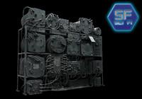 3d max sci fi control apparatus