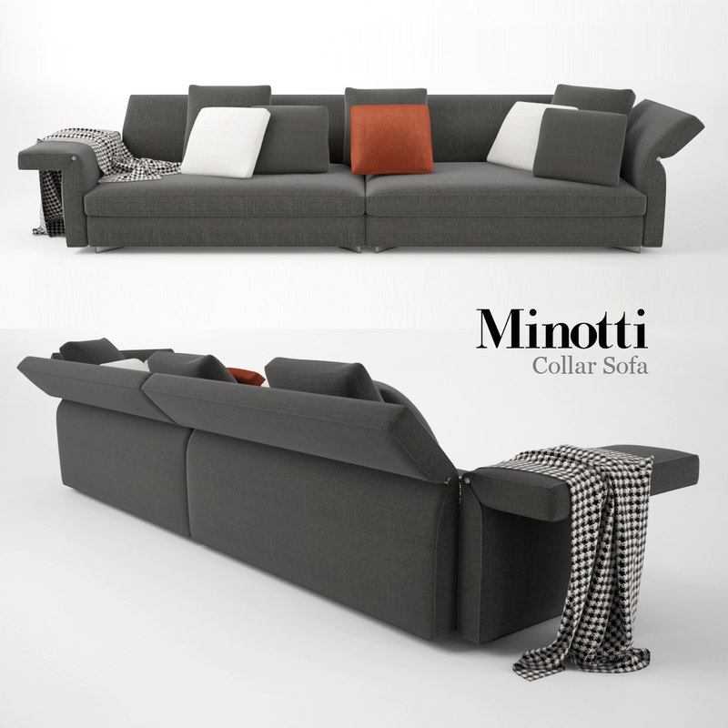 3d minotti collar sofa model