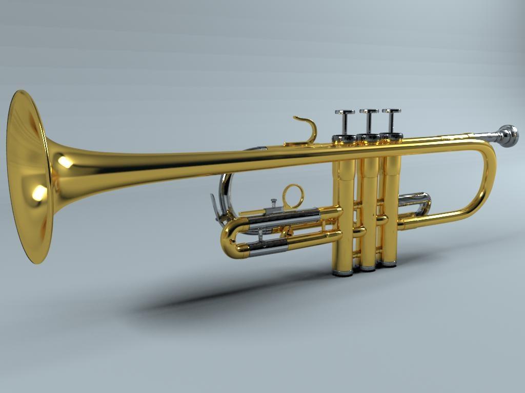 3d trumpet weril modeled model