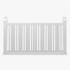 3d fence 02 model