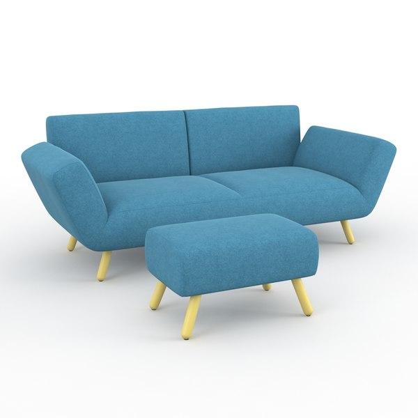 sofa leolux 3d model