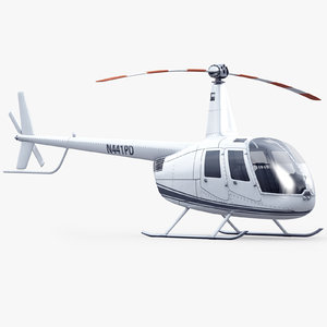 robinson r44 helicopter 3d model
