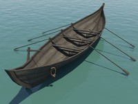 medieval rowboat fbx free