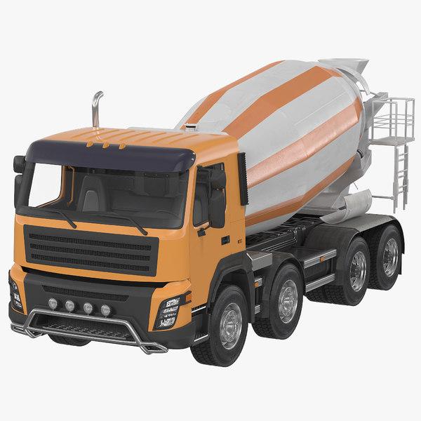 3d model of cement mixer vehicle generic