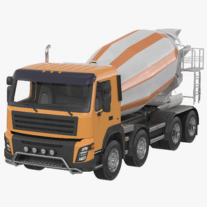 3d model of cement mixer vehicle generic
