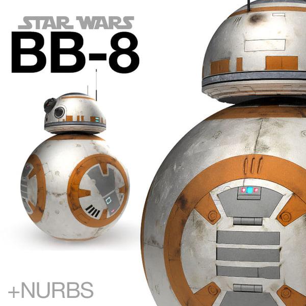 3d star wars bb-8 droid