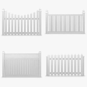fence set 3d 3ds