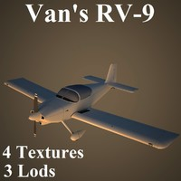 van aircraft low-poly 3d model