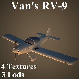 van aircraft low-poly 3d model