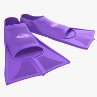 c4d swim fins purple