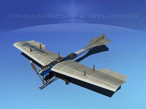 antoinette monoplane plane 3d model