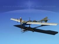 antoinette monoplane plane 3ds