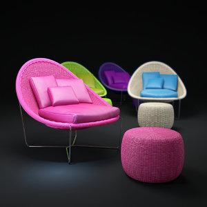 3d model nido-chair