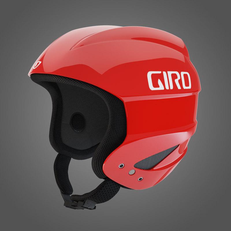 giro sestriere helmet red 3d obj