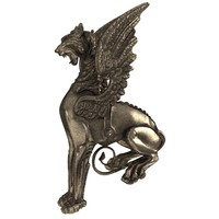 3d model griffin sculpture