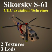sikorsky chc helicopter 3d max