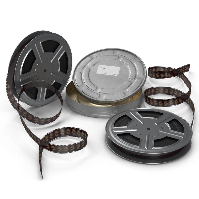 3dsmax video film reel set