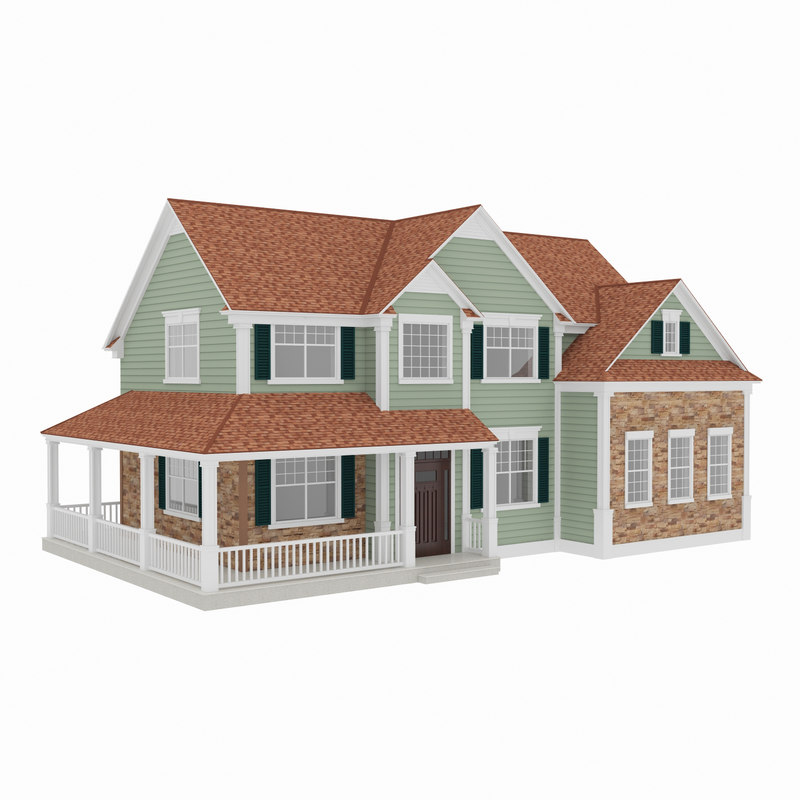 3d american house model for Building model houses