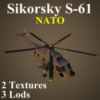 sikorsky nat helicopter 3d model