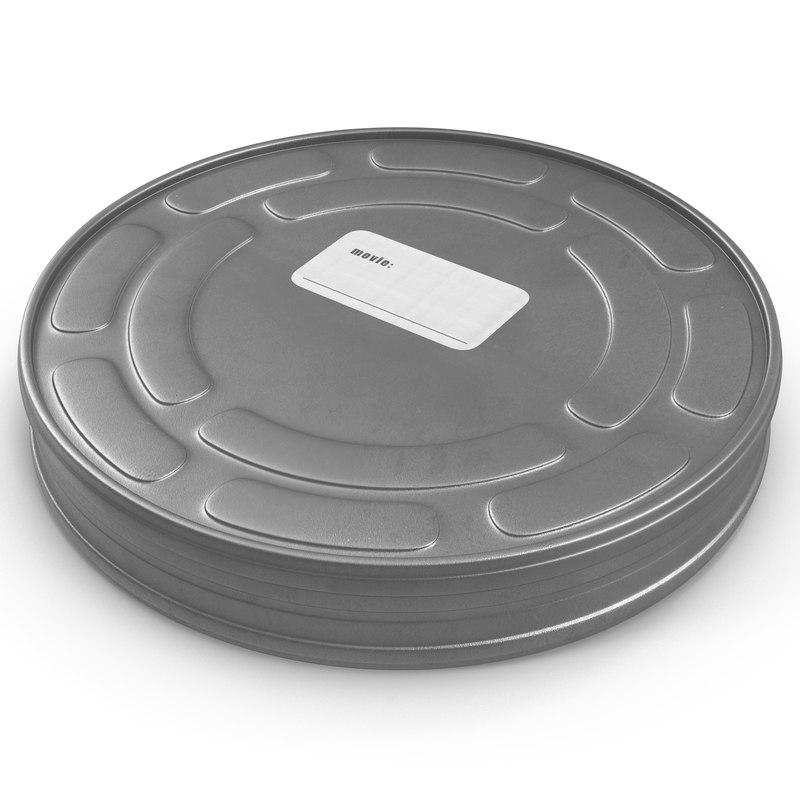 3d video film reel case
