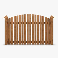 3d model of fence wood 01
