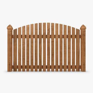3d model of fence wood 01
