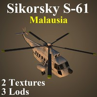 3d model of sikorsky wte helicopter
