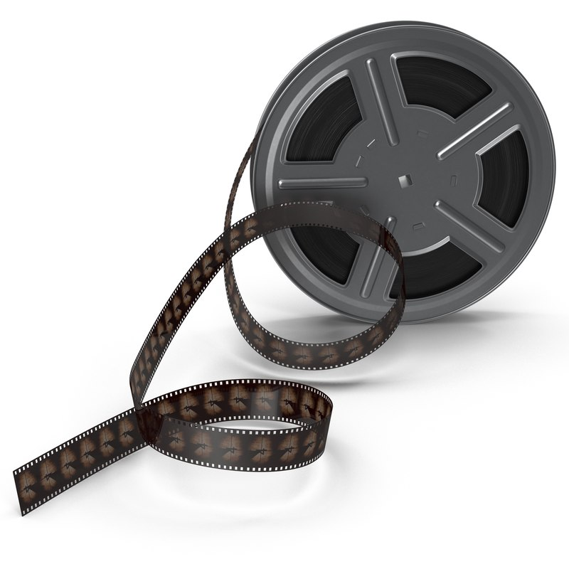 video film reel 3d max