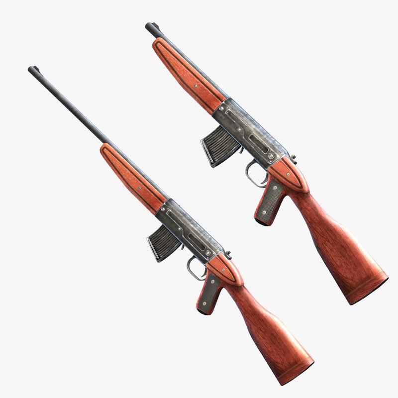 set rifles 3d max