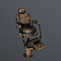 old barbershop chair 3d model