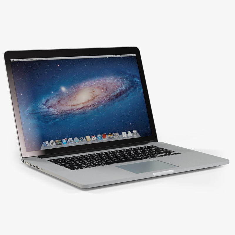 apple macbook pro 15 3d model