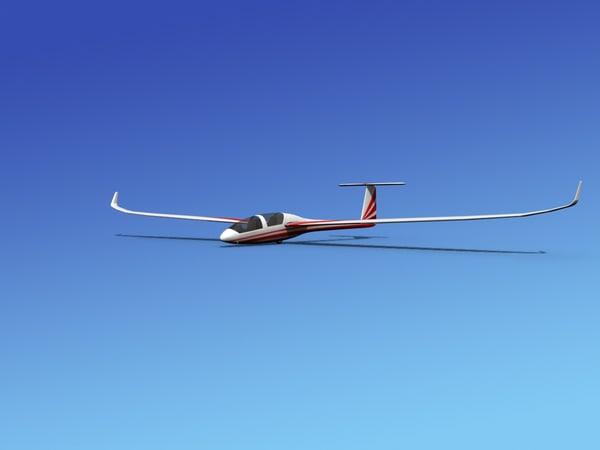 dg-1000 glider 3d 3ds
