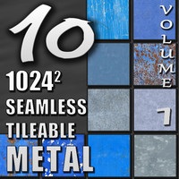 10 Seamless Tileable Metal Wall Floor Texture Pack Volume I