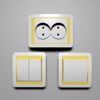 light switches electrical socket 3d max