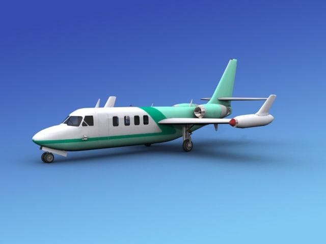 3d model aircraft westwind iai