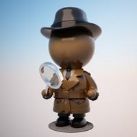 Cartoon Detective Character