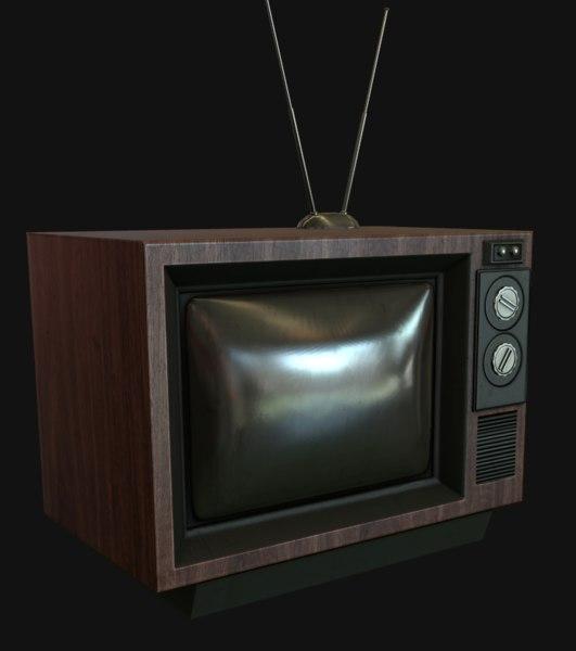 free old tv-set 3d model