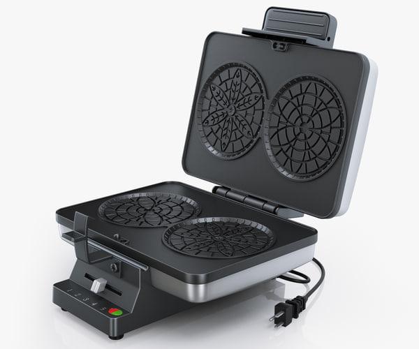 cuisinart pz2 pizzelle press 3d model