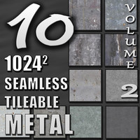 10 Seamless Tileable Metal Wall Floor Texture Pack Volume II