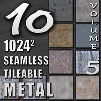 10 Seamless Tileable Metal Wall Floor Texture Pack Volume V