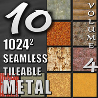 10 Seamless Tileable Metal Wall Floor Texture Pack Volume IV